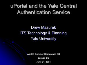 CAS: The Yale Central Authentication Service