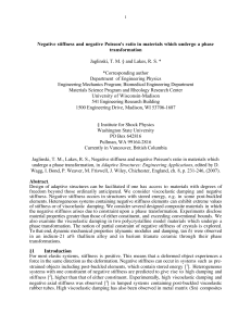 Negative stiffness and negative Poisson`s ratio in materials which