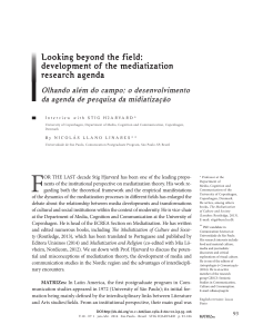 Looking beyond the field: development of the