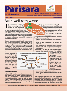 Build well with waste