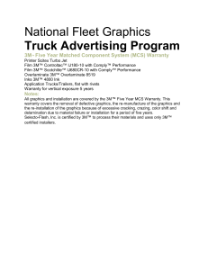 National Fleet Graphics Truck Advertising Program Materials