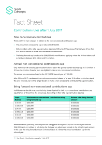 Contribution rules after 1 July 2017