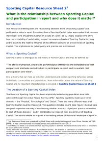 What is the relationship between Sporting Capital and Participation