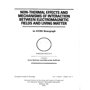 Non-Thermal Effects and Mechanisms between Electromagnetic