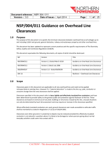 Guidance on Overhead Line Clearances