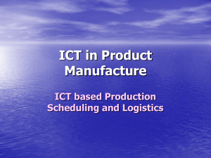 ICT in Product Manufacture