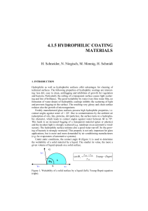 4.1.5 hydrophilic coating materials