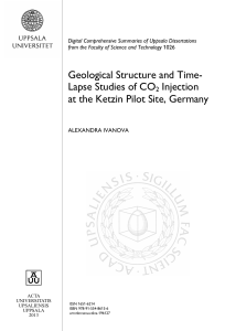 Geological Structure and Time-Lapse Studies of CO2 Injection