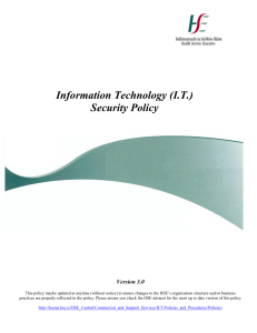 Information Technology (IT) Security Policy