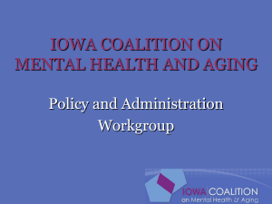 Mental Health and Aging Policy - University of Iowa College of