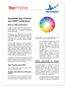 AkzoNobel Sign Finishes and LEED Certification