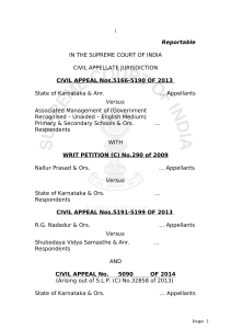 Reportable IN THE SUPREME COURT OF INDIA CIVIL APPELLATE