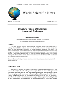 Structural Failure of Buildings: Issues and