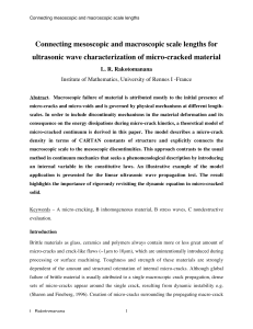 Connecting mesoscopic and macroscopic scale lengths for