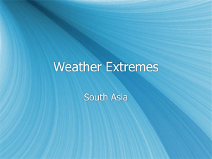S. Asia Weather Climate Patterns