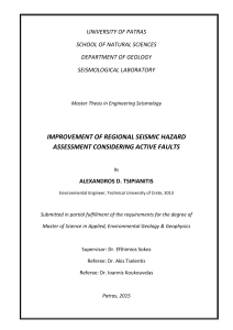 improvement of regional seismic hazard assessment considering