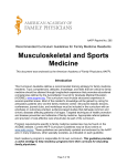 Sports and Recreational Medicine Curriculum