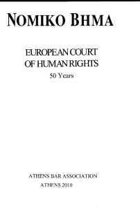 α tribute to fifty years of the european court of human rights