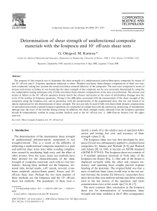 Determination of shear strength of unidirectional composite