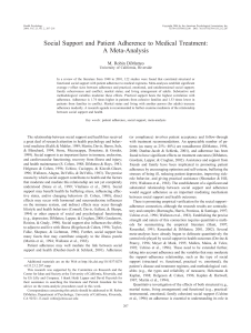 Social Support and Patient Adherence to Medical Treatment: A Meta