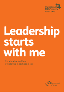 The why, what and how of leadership in adult social care