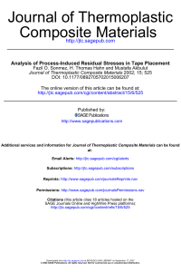 Analysis of process-induced residual stresses in tape placement