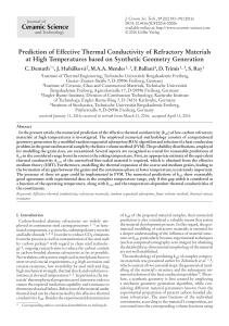Prediction of Effective Thermal Conductivity of Refractory Materials