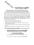 safe disposal of sharps