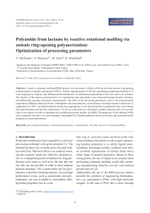 Polyamide from lactams by reactive rotational molding via anionic