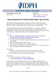 Illinois Department of Public Health Safety Tips for Heat