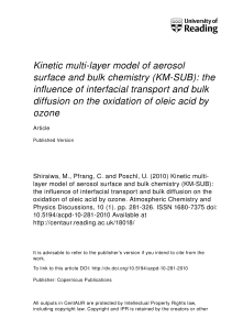 Kinetic multi-layer model of aerosol surface and bulk chemistry (KM