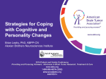 Strategies for Coping with Cognitive and Personality Changes