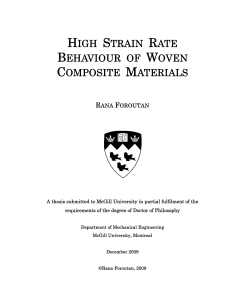 high strain rate behaviour of woven composite