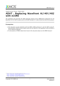 ADAT - Replacing Wavefront AL1401/402 with xCORE
