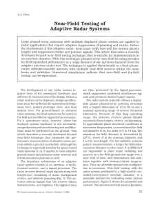 Near-Field Testing of Adaptive Radar Systems
