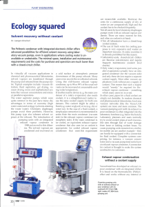 Solvent recovery using laboratory vacuum pumps