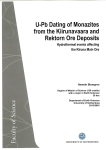 U-Pb Dating of Monazites from the Kiirunavaara and Rektorn Ore