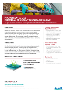 microflex® 93-260 chemical resistant disposable glove
