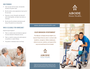 Home Health Brochure - Abode Hospice and Home Health
