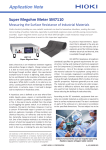 Measuring the Surface Resistance of Industrial Materials