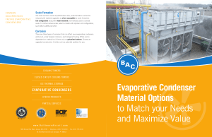 Evaporative Condenser Material Options to Match your Needs and