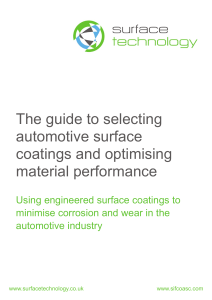 The guide to selecting automotive surface coatings and optimising