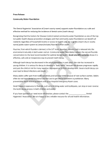 PDHA Water Fluoridation Press Release
