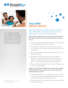 Children`s Dental Health Flier - 508