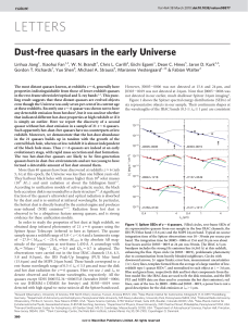 Dust-free quasars in the early Universe