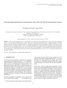 Environmental Embrittlement Characteristics of the AlFe and AlCuFe